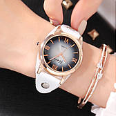 Женские часы  Белый кожаный ремешок, фото 1