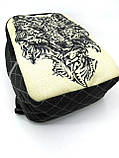 Джинсовый рюкзак Волк, фото 5