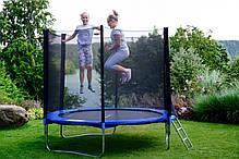 Батути дитячі FunFit(Польща) 252 см із захисною сіткою і драбинкою, фото 2