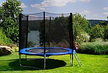 Батути дитячі FunFit(Польща) 252 см із захисною сіткою і драбинкою, фото 3