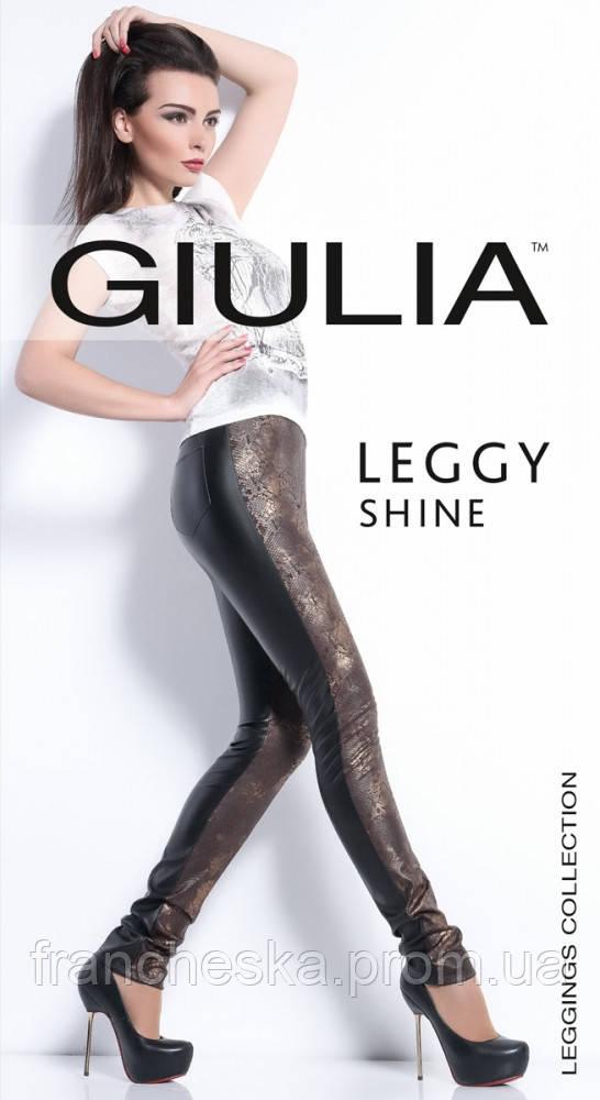 b4b60bba721ca ТМ GIULIA брюки-леггинсы со вставками под кожу LEGGY SHINE model 03 ...