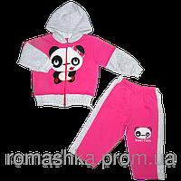 Детский спортивный костюм (теплый): кофта на молнии с капюшоном, штаны, начес, Турция, р. 86, 92