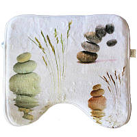 Коврик в ванную комнату антискользящий хлопковый 45х45 см Bathlux Stone 10183