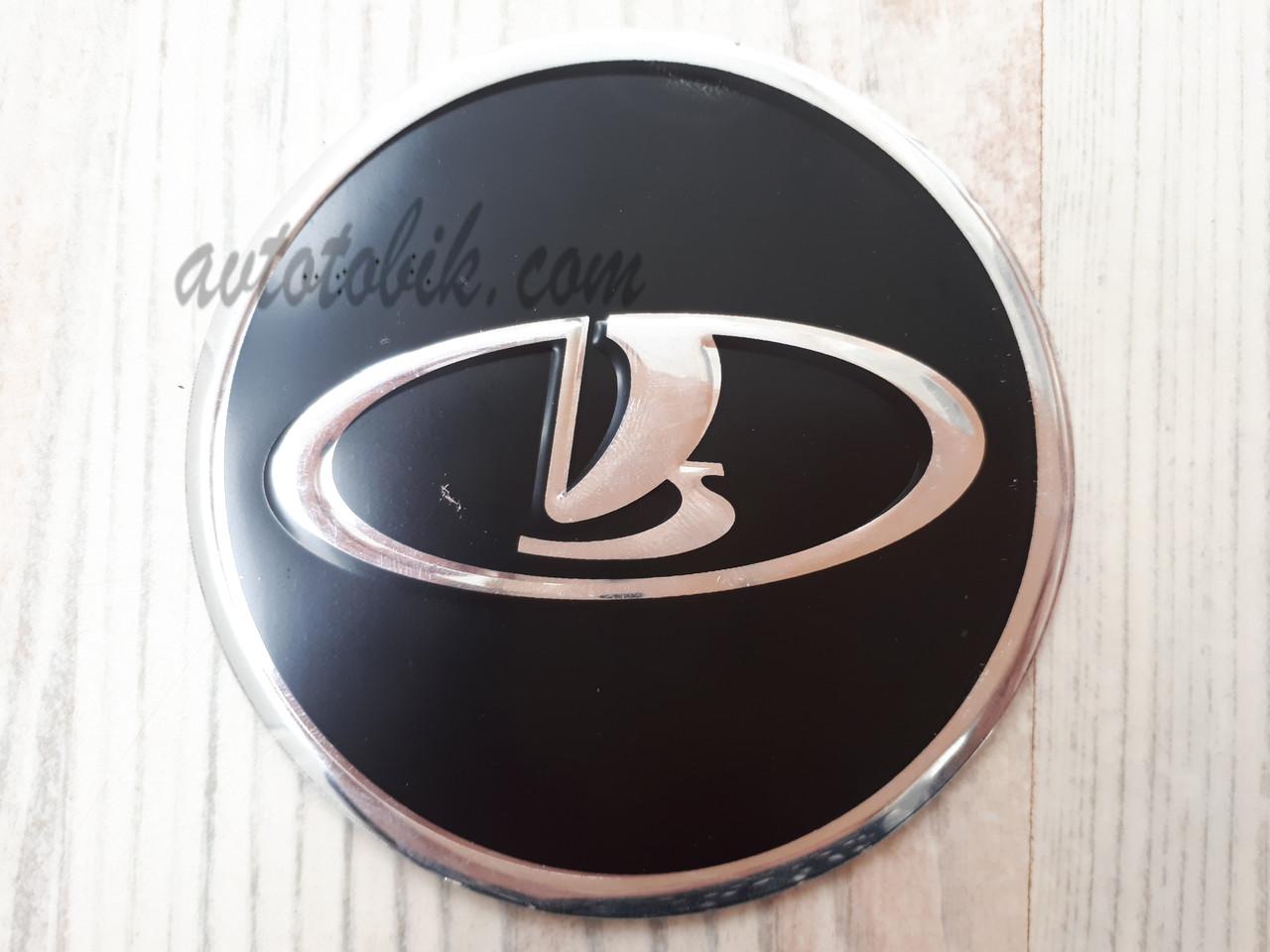 Наклейка эмблема на колпаки Lada 90 мм (4 шт.)