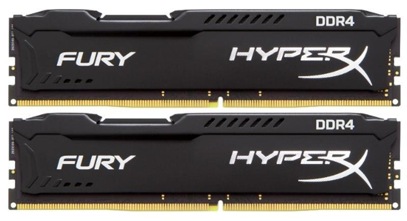 Модуль памяти DDR4 2x8GB/3200 Kingston HyperX Fury Black (HX432C18FB2K2/16)