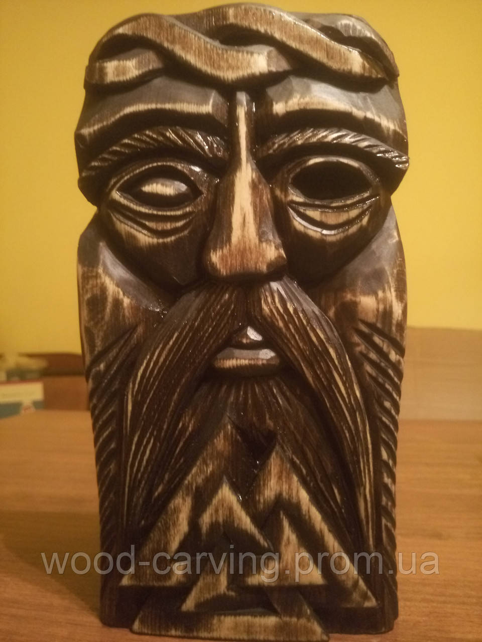 """Дерев'яне панно """"Бог Одін"""". Різьба по дереву"""