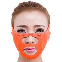 Маска-бандаж для коррекции овала лица (носовые складки, щеки).