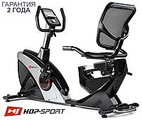 ЭлектроМагнитный, горизонтальный велотренажер HS-070L Helix iConsole+ silver до 150 кг. Гарантия 24 мес.