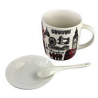 Чашка с блюдцем и ложечкой London, фото 1