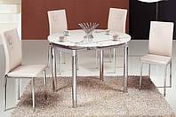 Стеклянный стол Сандра М, розовый