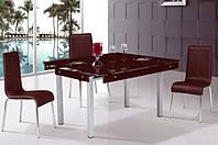 Стеклянный раскладной стол Тифани