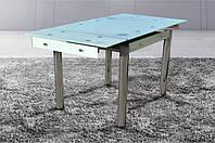 Стеклянный раскладной стол Моне, молочный