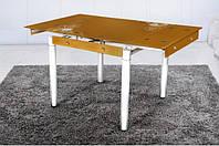Стеклянный раскладной стол Франческа, золотой