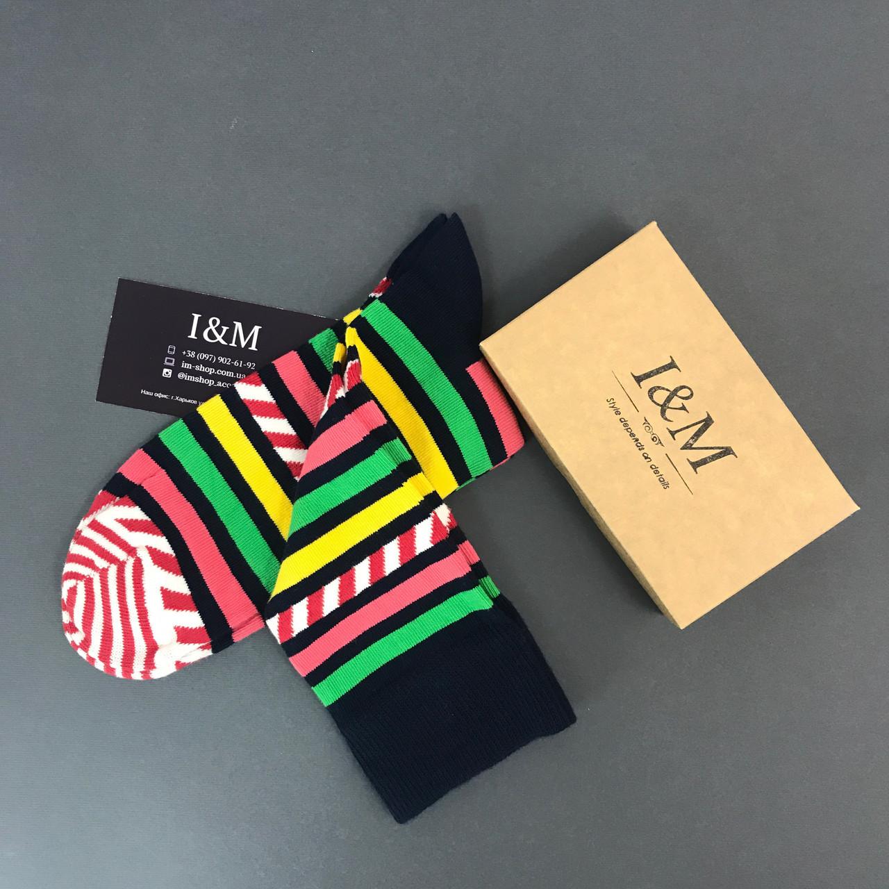 Носки I&M Craft в цветные полоски (070153)