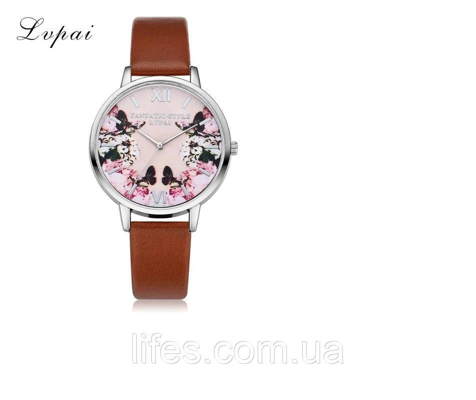 Женские часы LVPAI Коричневый ремешок