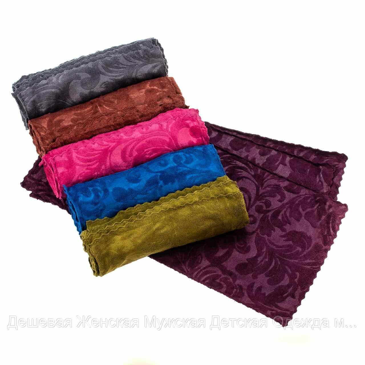 Полотенце кухонное с узором микрофибра. В упаковке 20 шт разного цвета.