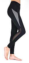Жіночі спортивні лосини (норма), чер/меланж, Америка