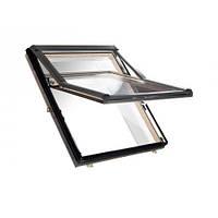 Мансардне вікно ROTO Designo R7 WDF R75 H дерев'яне Мансардное окно Рото 7 серии с поднятой осью поворота