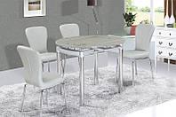 Стеклянный стол Сандра М, серый