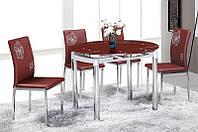 Стеклянный стол Сандра М, бордовый