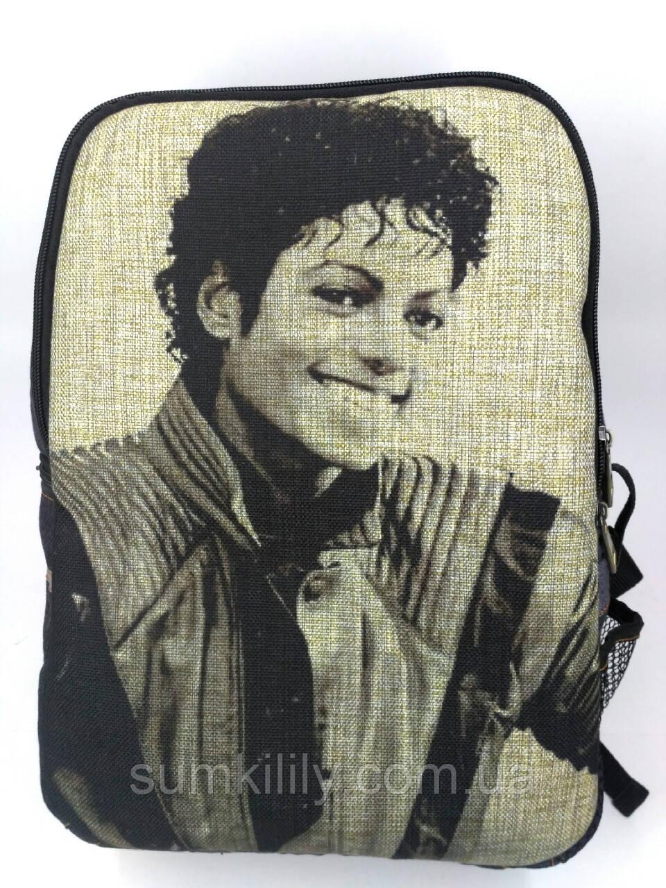 Джинсовый рюкзак Майкл Джексон 4
