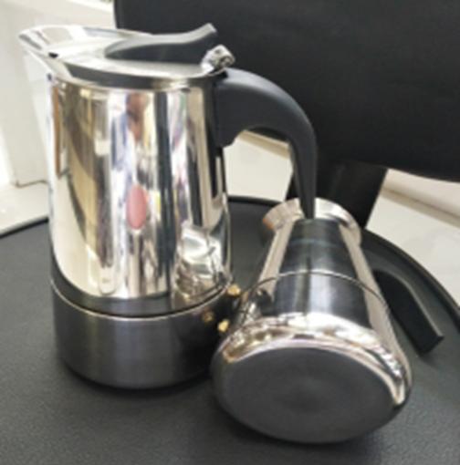 Гейзерная кофеварка из нержавеющей стали (индукция)- 6 чаш