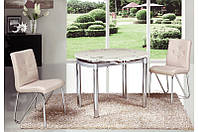 Стеклянный стол Сандра Б, розовый