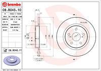 Тормозной диск Brembo 08.B045.10