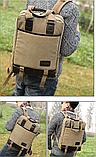 Рюкзак-сумка Binghu хаки мешковина, фото 2