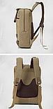 Рюкзак-сумка Binghu хаки мешковина, фото 4