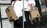 Рюкзак-сумка Binghu хаки мешковина, фото 5