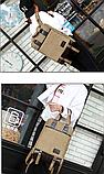 Рюкзак-сумка Binghu хаки мешковина, фото 6