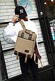 Рюкзак-сумка Binghu хаки мешковина, фото 7