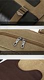 Рюкзак-сумка Binghu хаки мешковина, фото 8