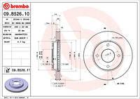 Тормозной диск Brembo 09.B526.10