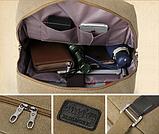 Рюкзак-сумка Binghu хаки мешковина, фото 9