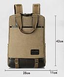 Рюкзак-сумка Binghu хаки мешковина, фото 10