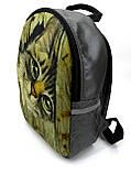 Джинсовый Рюкзак Кот за забором, фото 3