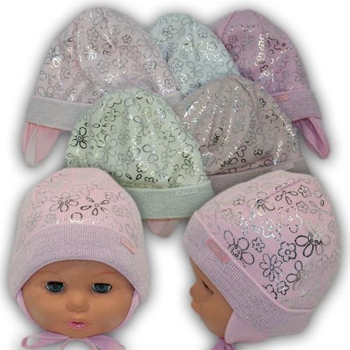 Шапки для новорожденных на весну, р. 36-38