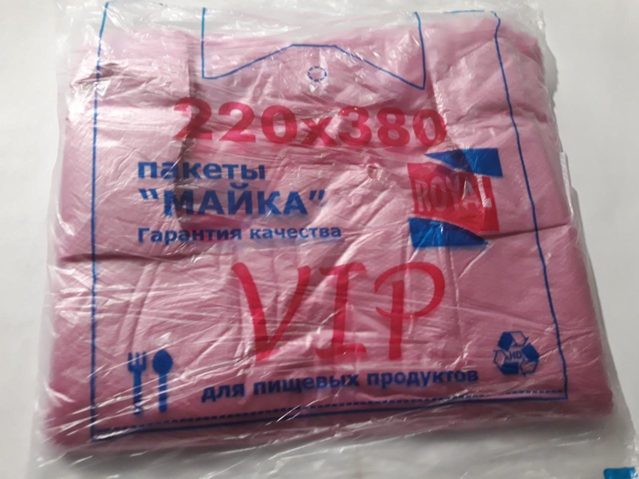 Пакет полиэтиленовый Майка VIP 220*380 мм, 200 шт/упаковка