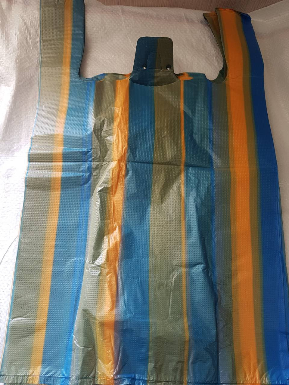 Пакет полиэтиленовый Майка тип ''Полоса'' 43*65 см, 100 шт