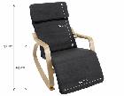 Кресло качалка для отдыха с подставкой для ног, фото 10