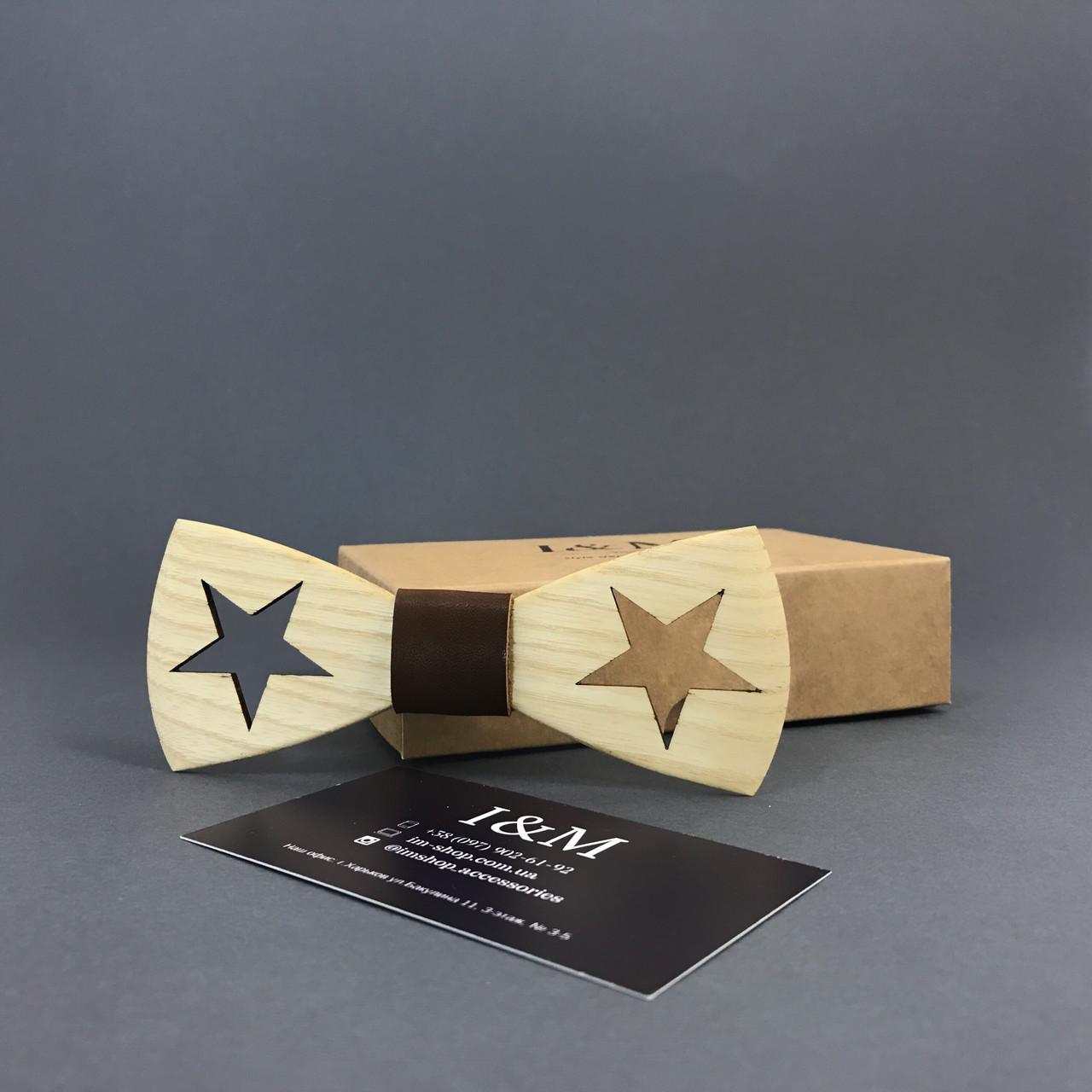 Краватка-метелик I&M Craft з дерева (051104)