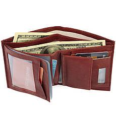 Мужское портмоне кожаное вертикальное BENZER 95х120х20 тр26262кор, фото 2