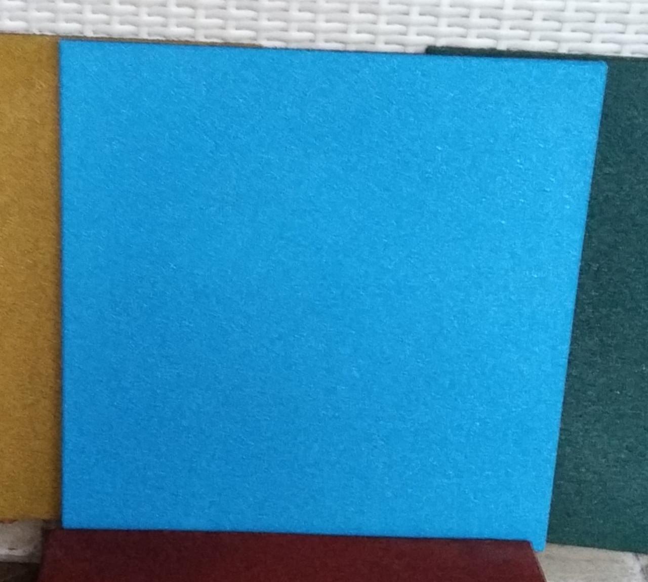 Резиновая плитка 500х500х40 синяя