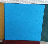 Резиновая плитка 500х500х40 синяя, фото 1