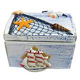 Декоративна шкатулка морська, фото 2