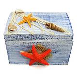 Декоративна шкатулка морська, фото 4