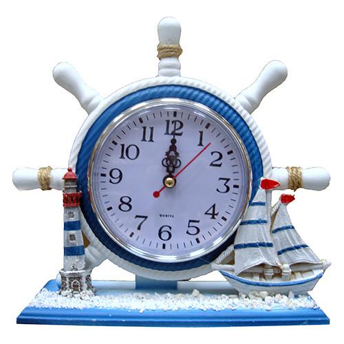 Оригинальные часы Штурвал настольные