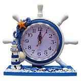Оригинальные часы Штурвал настольные, фото 2